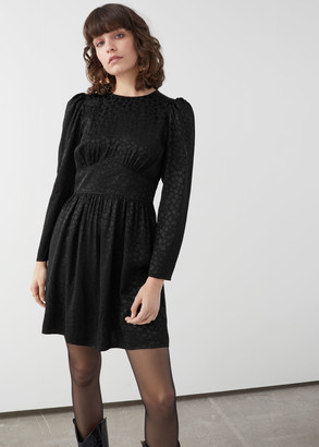 And other stories Triangle Bodice Ruffled Mini Dress