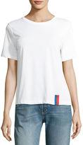 Kule Modern Solid Crewneck Short-Sleeve Cotton Top