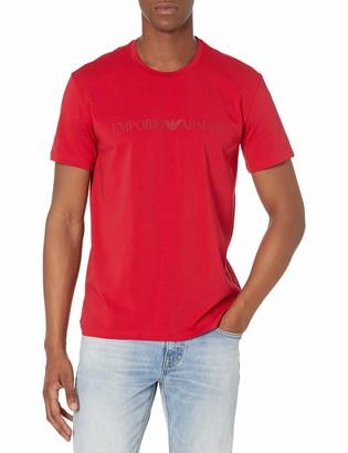 Emporio Armani Men's Basic & Iconic SINGLEPACK-Textured Logoband