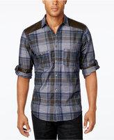 INC International Concepts Men's Malcom Plaid Long-Sleeve Shirt, Only at Macy's