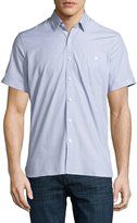 Neiman Marcus End On End Short-Sleeve Shirt, Stone