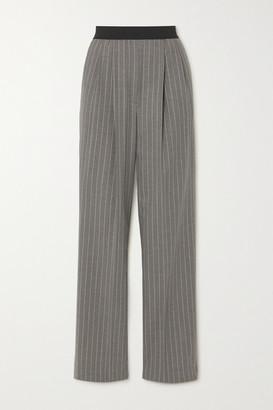 LOULOU STUDIO Moretta Pleated Pinstriped Stretch-wool Straight-leg Pants