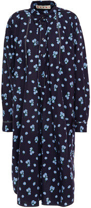 Marni Floral-print Cotton-poplin Shirt Dress
