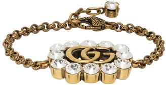 Gucci Gold Crystal GG Marmont Bracelet