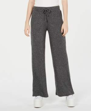 Hippie Rose Juniors' Ribbed Wide-Leg Soft Pants