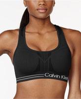 Calvin Klein Mid-Impact Padded Racerback Sports Bra