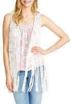 Jessica Simpson Macrame Vest