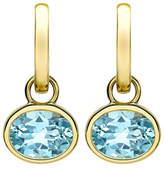 Kiki McDonough 18k Gold Eternal Blue Topaz Drop Earrings