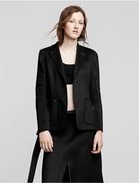 Calvin Klein Collection Double Faced Cashmere Patch Pocket Blazer
