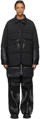 JERIH Black Pocket Coat
