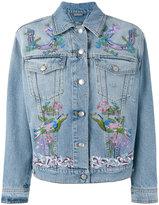 Alexander McQueen embroidered jacket - women - Cotton/Plastic/glass - 40