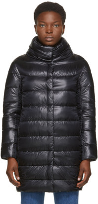 Herno Black Down Egg Coat