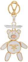 Prada White Teddy Bear Keychain