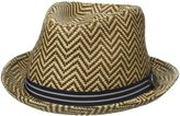 Ben Sherman Men's Herringbone Straw Trilby