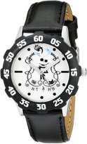 Disney Kids' W000455 Tween Vampire Teddy Stainless Steel Black Bezel Black Leather Strap Watch