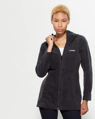 Columbia Funnel Neck Longline Fleece Hooded Jacket