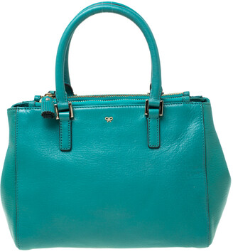 Anya Hindmarch Green Leather Ebury Soft Tote
