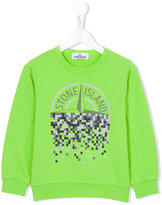 Stone Island Junior - logo front sweatshirt - kids - Cotton - 6 yrs