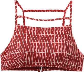 RVCA Women's Triangle Row Bralette Bikini Top