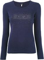 Armani Jeans embellished logo longsleeved T-shirt