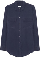 Equipment Signature Washed-silk Shirt - small