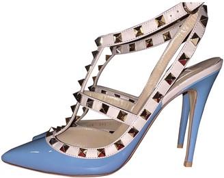Valentino Rockstud Blue Patent leather Heels