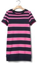 Gap Multi-stripe sweatshirt dress