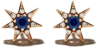 Selim Mouzannar 18kt rose gold sapphire and diamond Star earrings