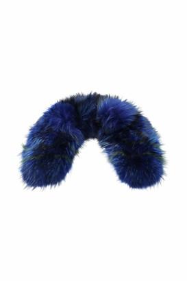 Mr & Mrs Italy Intarsia Raccoon Fur Collar