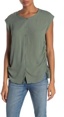 Pleione Short Sleeve Side Tie Blouse