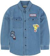 Kenzo Stone-washed blue chambray shirt - Food Fiesta