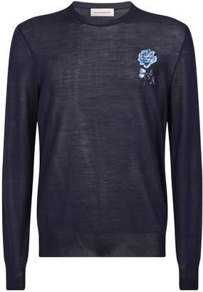 Alexander McQueen Floral Applique Sweater