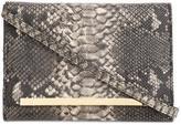 Christian Siriano snakeskin effect clutch