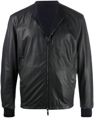 Giorgio Armani Zipped Leather Jacket