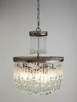 John Lewis & Partners Zinnia Crystal Chandelier Ceiling Light, Clear/Green