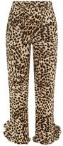 Arizona Love - Abby Ruffled-cuff Leopard-print Trousers - Womens - Leopard