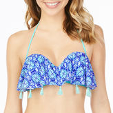 Arizona Medallion Flounce w/Tassels Swimsuit Top-Juniors