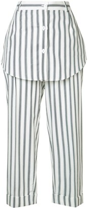 Monse Striped Skirt Trousers