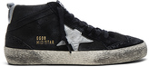 Golden Goose Deluxe Brand Suede Mid Star Sneakers in Black
