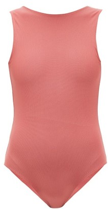 ALBUS LUMEN High-neck V-back Swimsuit - Pink