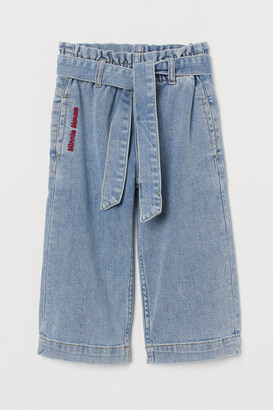 H&M Wide Leg Cropped Jeans