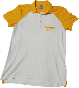 adidas Yellow Cotton Polo shirts