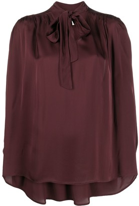 L'Autre Chose Pussybow Bell-Sleeve Blouse
