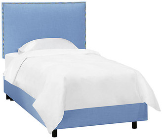 One Kings Lane Loren Kids' Bed - French Blue Linen - Twin