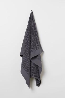 H&M Jacquard-weave Bath Sheet - Gray