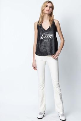 Zadig & Voltaire Tander NBA Leather Top