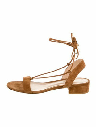 Gianvito Rossi Suede Gladiator Sandals Brown