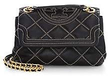 Tory Burch Women's Small Fleming Studded Leather Shoulder Bag
