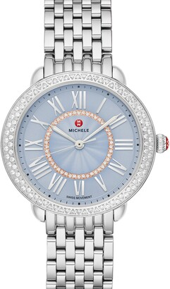 Michele Serein Mid Diamond Watch Head & Bracelet, 36mm x 34mm