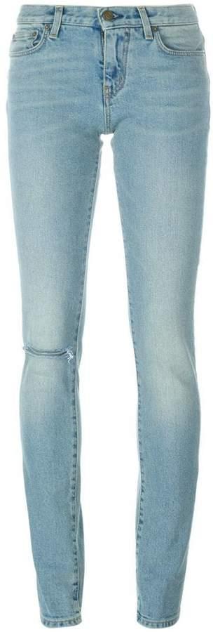 Saint Laurent stonewashed skinny fit jeans